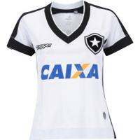 Camisa Do Botafogo Iii 2017 Topper Com Patrocínio - Feminina - Branco/Preto