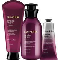 Combo Nativa Spa Ameixa Negra: Loção Hidratante + Sabonete Líquido + Creme Para Mãos