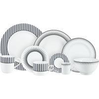 Aparelho De Jantar, Chá E Café Porcelana Schmidt 42 Peças - Dec. Mila