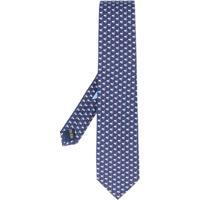 Salvatore Ferragamo Gravata Com Estampa - Azul