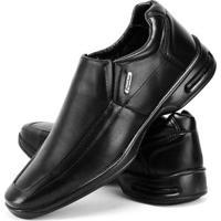 Sapato Conforto Social Sapatofran Masculino - Masculino-Preto