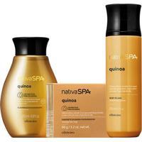 Combo Nativa Spa Quinoa: Sabonete Em Barra + Óleo Hidratante + Body Splash