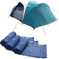 Barraca Camping Nautika Laredo Até 9 Pessoas + 3 Colchonetes Camp Mat