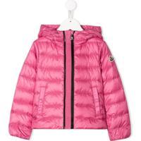 Moncler Kids Hooded Down Coat - Rosa