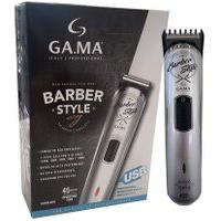 Maquina De Acabamento Gama Gt527 Barber Style Usb Prata
