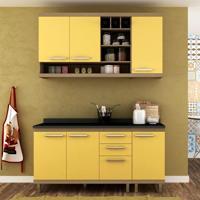Cozinha Compacta New Vitoria Ii 6 Pt 3 Gv Avelã Com Maracujá