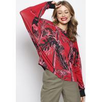 Blusa Com Tag- Vermelha & Preta- Forumforum