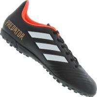 Chuteira Society Adidas Predator Tango 18.4 Tf - Adulto - Preto c795e5a00079a