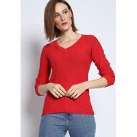 Blusa Em Tricô Mescla- Vermelha- Bhlbhl