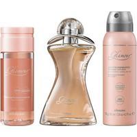 Combo Glamour: Desodorante Colônia, 75Ml + Oleo Corporal, 150Ml + Desodorante Aereossol, 75G/125Ml