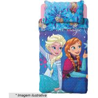 Jogo De Colcha Dupla Face Frozen® Solteiro- Azul Turqueslepper