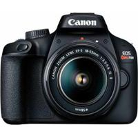 """Câmera Digital Canon Eos Rebel T100 Dslr Com 18 Mp, 3"""", Gravação Em Full Hd - T100 Ef-S 18-55Mm Stm"""