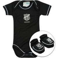 f12d223967 Kit De Uniforme De Futebol Do Ceará Para Bebê  Body + Pantufa - Infantil -