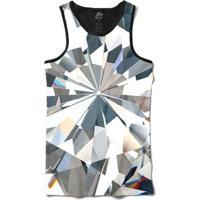 Camiseta Bsc Regata Full Diamonds Full Print - Masculino-Preto