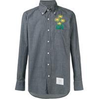 Thom Browne Camisa Reta Risca De Giz - Azul