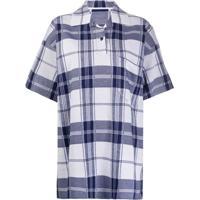 Jacquemus Camisa Oversized Le Polo Torchon Xadrez - Branco