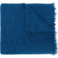 Faliero Sarti Cachecol De Tricô Com Franjas - Azul