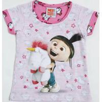Blusa Infantil Agnes Unicórnios Minion