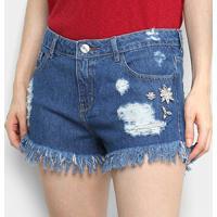 Shorts Enfim Comfort Feminino - Feminino-Azul