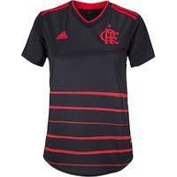 Camisa Do Flamengo Iii Adidas 2020 - Feminina - Preto/Vermelho