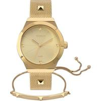 Relógio Euro Unique Feminino - Feminino-Dourado