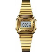 Relógio Skmei Digital Feminino - Feminino-Dourado