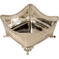 Vaso Decorativo Quadrado De Prata Zayed Médio