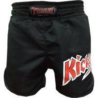 Calção / Short Kickboxing - K1 - Cavado - Preto - Toriuk