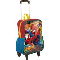 Mochilete Grande Spiderman 19M Infantil Sestini - Masculino-Vermelho