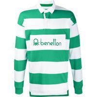Benetton Camisa Polo Mangas Longas - Verde