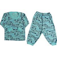 Pijama Para Bebê Menino Em Malha Sortido - P Ao G