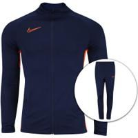 Agasalho Nike Dry Academy Track Suit K2 - Masculino - Azul Esc/Laranja