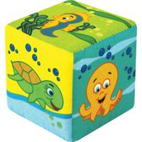 Cubo Fundo Do Mar - Amarelo & Verde- 13X13X13Cm Cia Brink