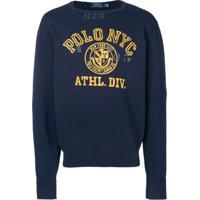 Polo Ralph Lauren Moletom Com Logo - Azul
