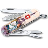 Canivete Classic Paris- Inox & Bege Claro- 5,8Cmvictorinox