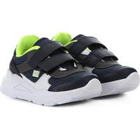 Tênis Bebê Jogging Velcro Via Vip - Masculino-Marinho+Verde Limão