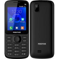 """Celular Positivo P70 Dual Chip Tela 2.4"""" 3G Bluetooth Whatsapp E Facebook 256Mb Preto"""