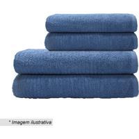 Toalha De Banho Nexus- Azul Escuro- 65X130Cm- Cacamesa