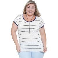 Blusa Feminina Listrada Plus Size Marisa