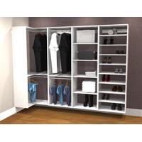 Conjunto Completo Para Closet 38 Branco - Getama Moveis