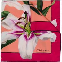 Dolce & Gabbana Lenço Estampado 'Lily' - Rosa