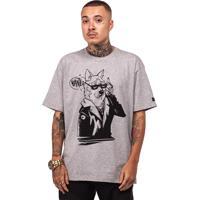 Camiseta Wanted Custom Estampa Cinza