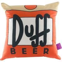 Almofada Aveludada Duff Beer 40 X 40 Cm