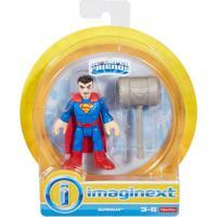 Mini Figura De Ação - Dc Comics - Imaginext - Superman Com Acessórios 15 Cm - Mattel - Masculino-Incolor