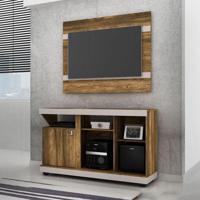 Rack Com Painel Para Tv 42 Polegadas Liz 120 Cm Canela E Dunas