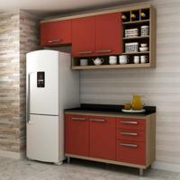 Cozinha Compacta New Vitoria 5 Pt 3 Gv Avelã Com Rubi