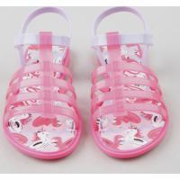 Sandália Infantil Grendene Barbie Rosa Neon
