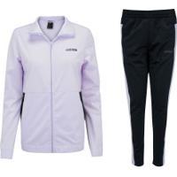 Agasalho Adidas Wts Plain Tricot - Feminino - Roxo Claro/Preto