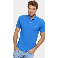 Camisa Polo Lacoste Original Fit Masculina - Masculino-Azul Navy