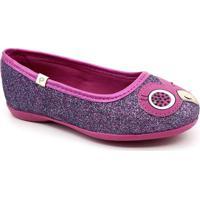 Sapatilha Infantil Pampili Glitter - Feminino-Pink